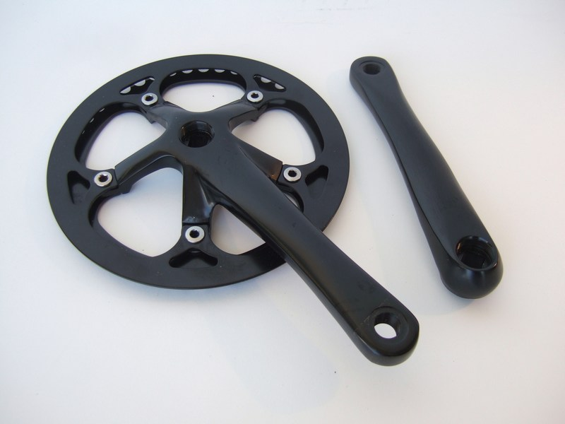 Parts Single speed square taper crank set with pant's guard Image