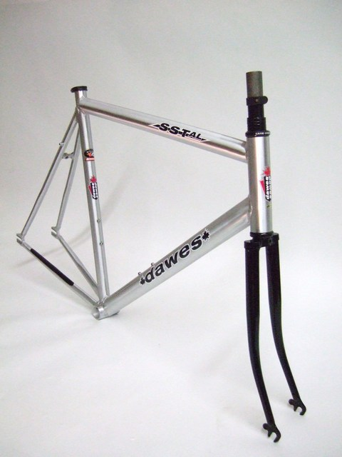 parts aluminum single speed track frame and fork image