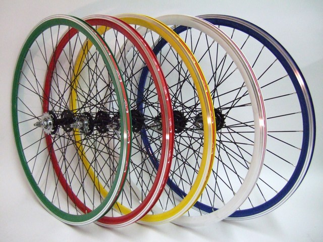 Wheels Fixed Gear In Colors Image