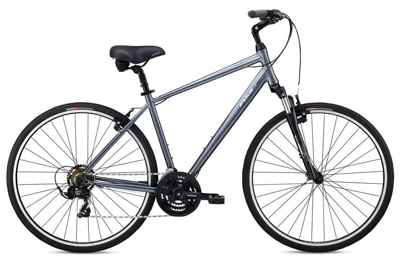 Bikes 2018 Fuji Crosstown 2.1 Lightweight Aluminum Hybrid with Shimano drivetrain  and Front Suspension Image