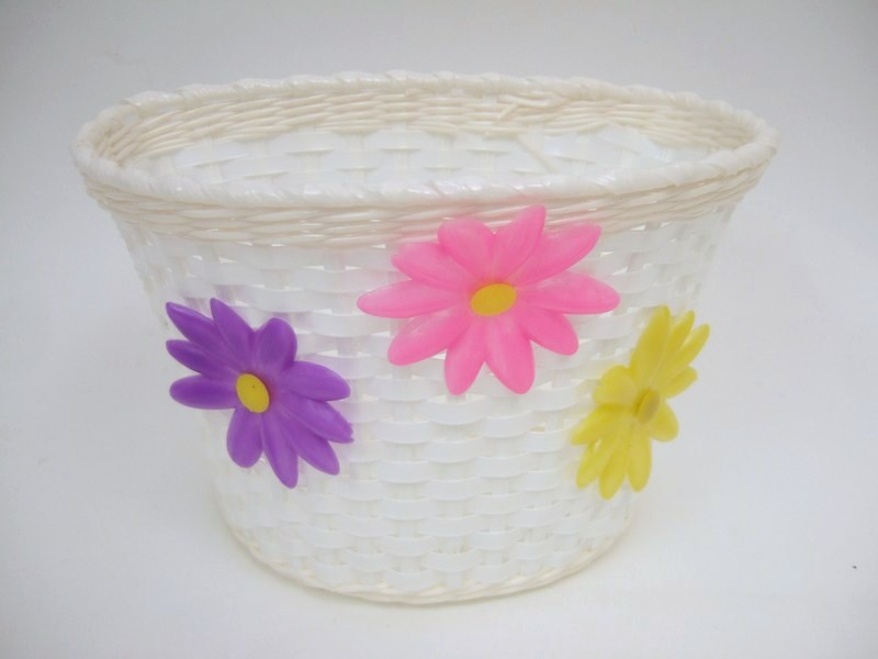 Accessories Plastic Flower Basket with 3 Flowers Image
