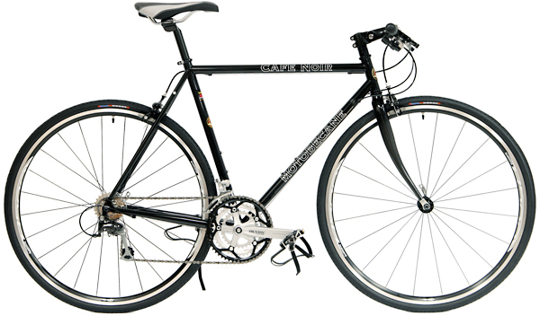 Bikes Motobecane Cafe Noir Flat Bar Road Bike Shimano 105 Equipped Image