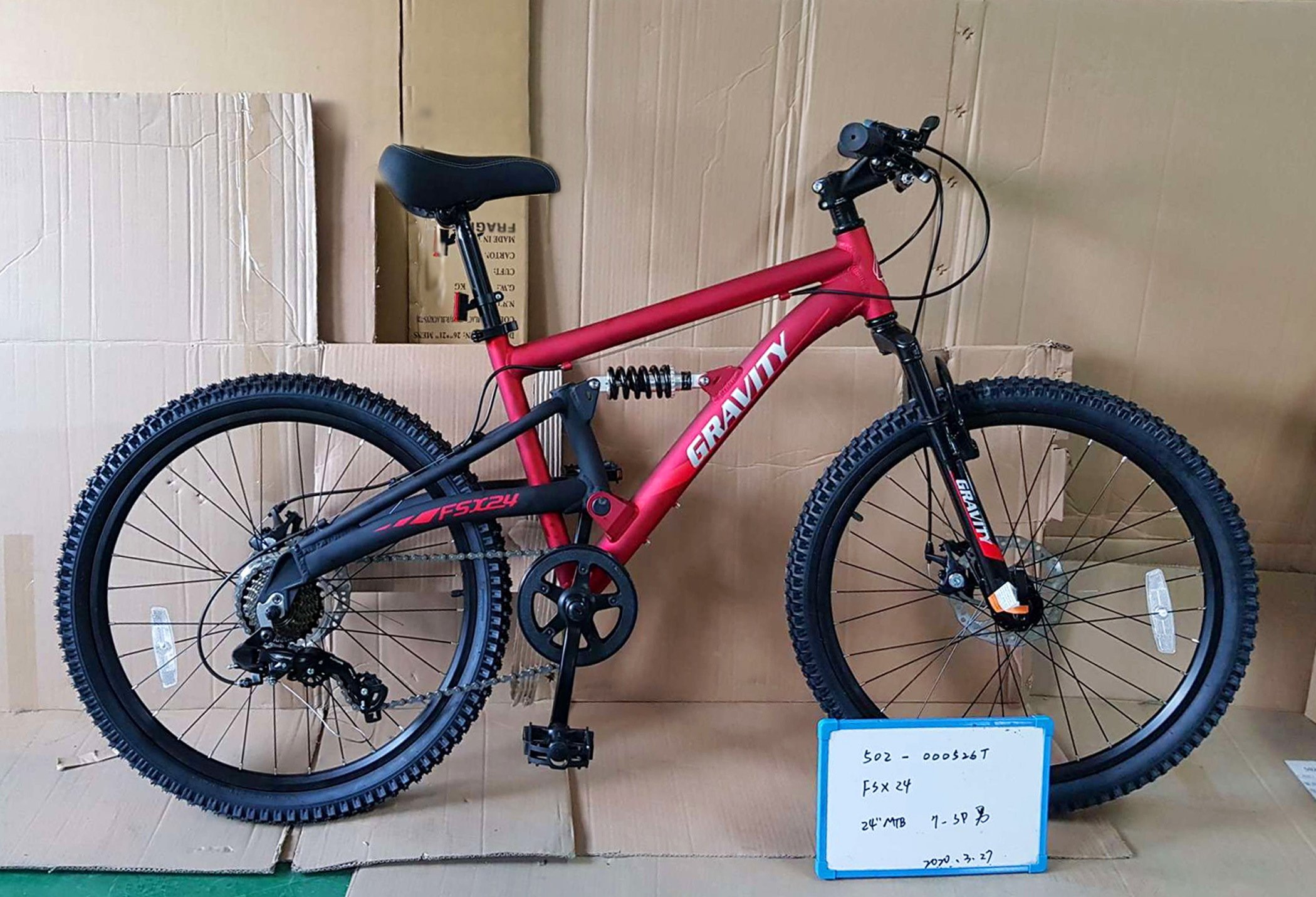 Bikes Gravity FSX 24Shimano Multi Speed FULL Suspension Kids Mountain Bike Image