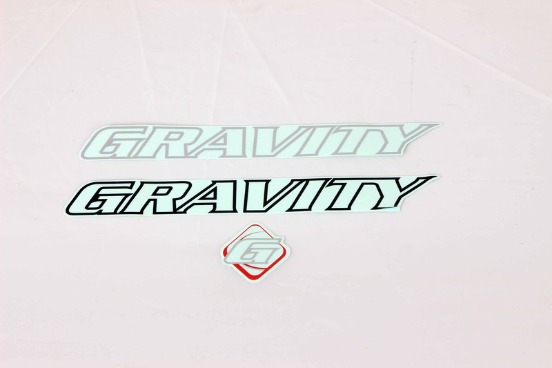 Parts Gravity Bicycle Frame Replacement Decal Set Image