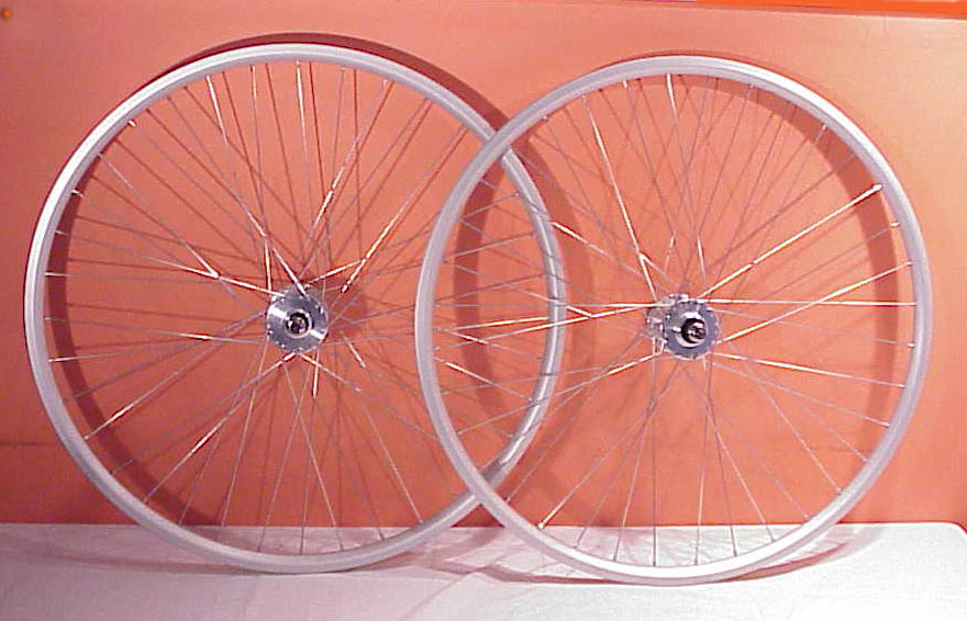 Parts Silver Track Bike Wheelset Image