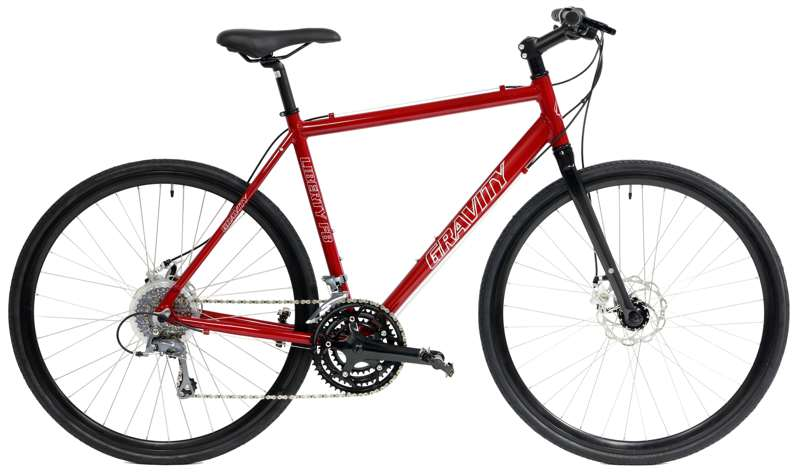 Bikes Gravity Liberty FB SHIMANO SORA / Claris 24Spd Cyclocross Commuter Disc Brake Flat Bar Road Bike Image