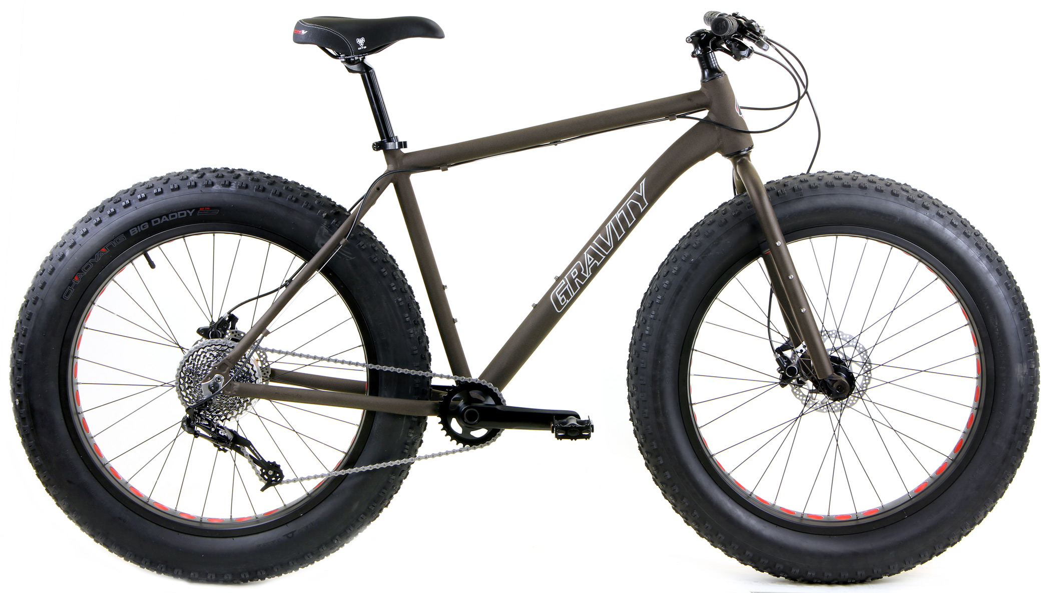 Bikes Gravity Bullseye Monster Five X SRAM GX 1X10 Spd Shimano HYDRAULIC Disk Brake Fat Bike Image
