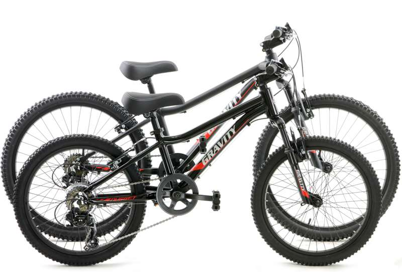 Bikes Gravity Nugget 24 Kids Mountain Bike Shimano with Front suspension Image