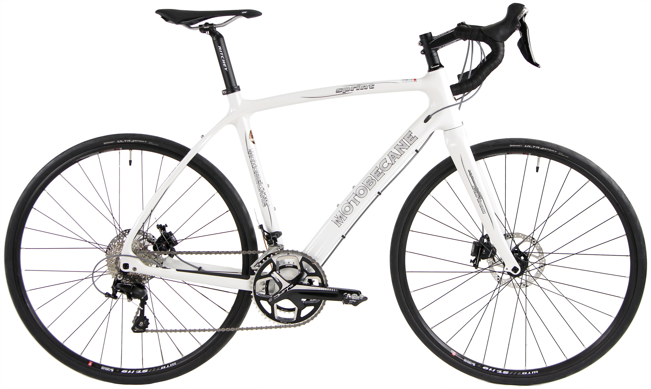 Bikes Motobecane Sprint CF Disc Pro Carbon Fiber Disc Brake Road Bike Ultegra Equipped Image
